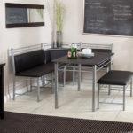 Комплект кухонной мягкой мебели на металлических ножках