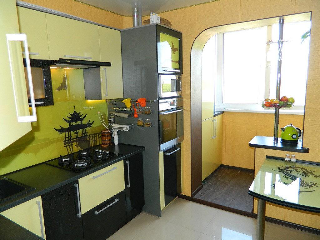 Реальная кухня 9 квадратов в японском стиле