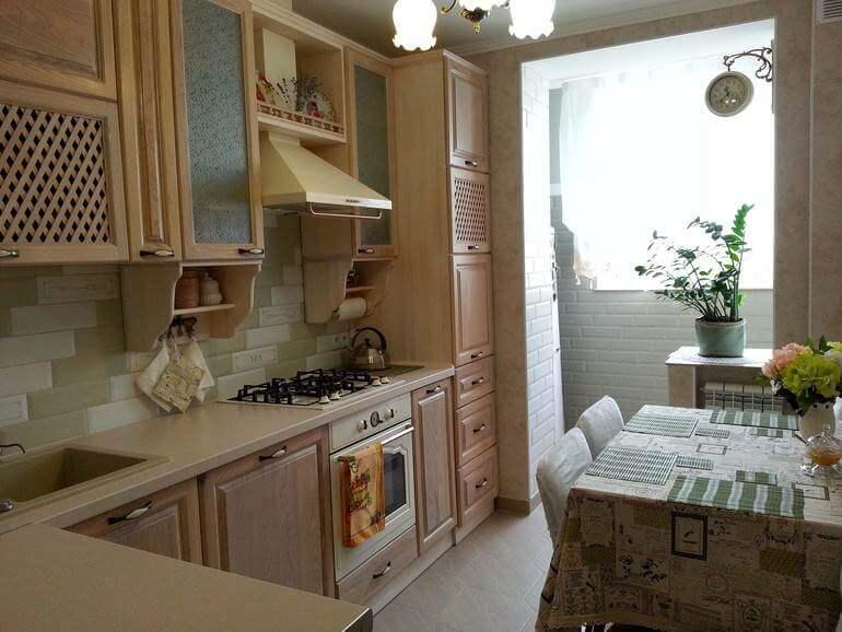 Кухонный гарнитур с ламинированными фасадами