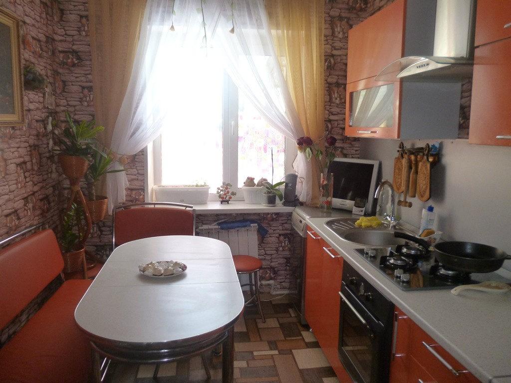 Интерьер узкой кухни площадью в 9 кв м