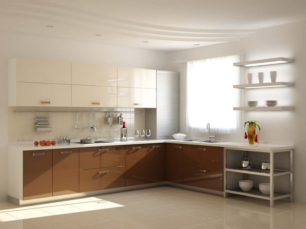 Дизайн кухни с гипсокартонным потолком