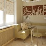 Мягкий угловой кухонный диван песочного цвета