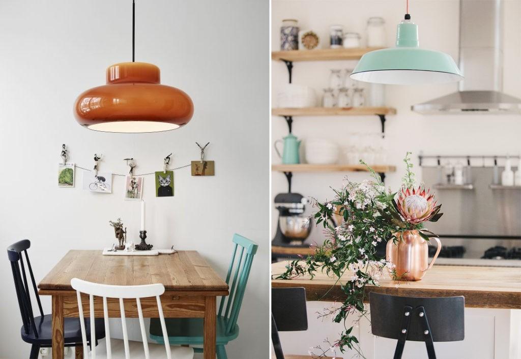 Примеры удачных акцентов мятного цвета в интерьере кухни