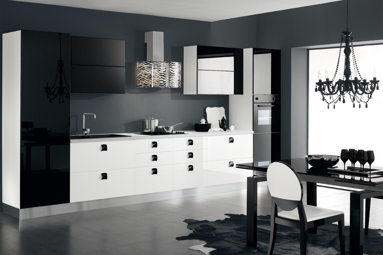зависит дизайн кухни с наклонной вытяжкой фото где