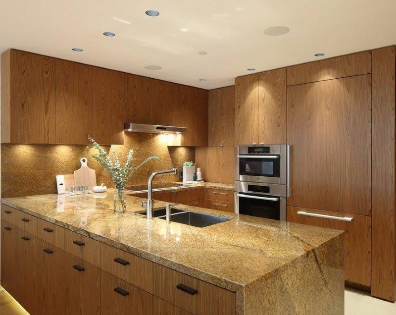 Кухонный полуостров со встроенной мойкой