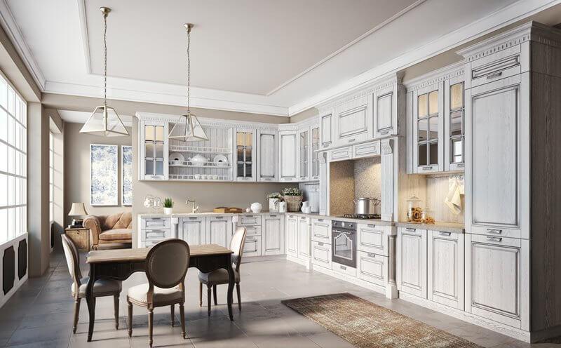 Модный дизайн кухни в стиле классики