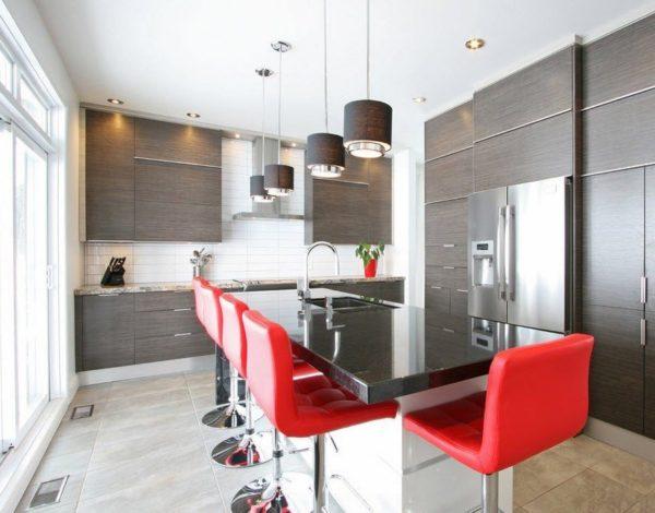Акцентный яркие стулья для кухни венге