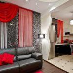 Прямой диван для кухни-гостиной