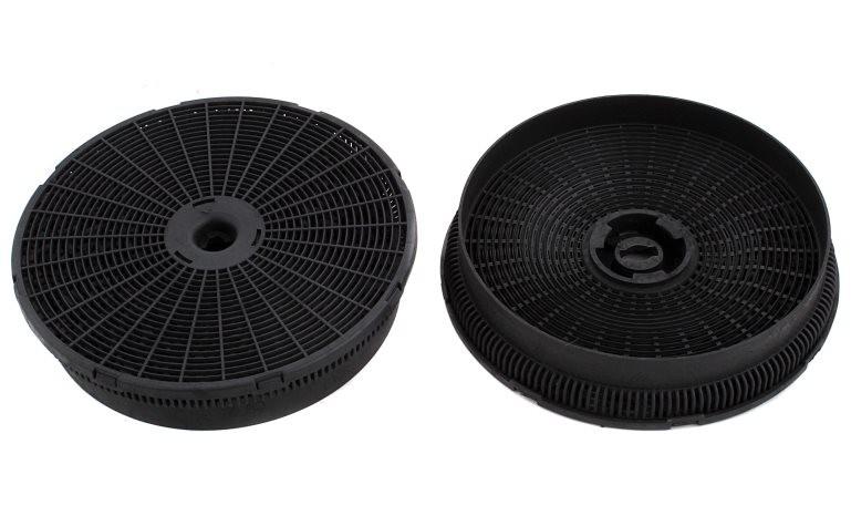 Два угольных фильтра круглой формы для кухонной вытяжки