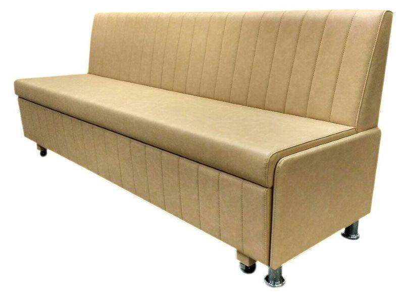 Кожаная обивка узкого дивана со спальным местом