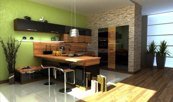 Кухня в экостиле