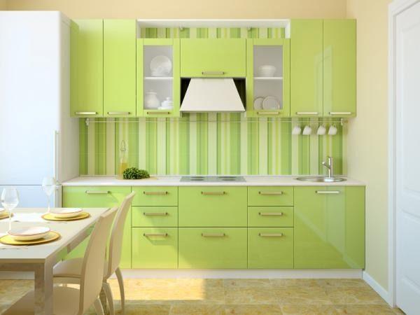 Сочетание зеленого и кремового