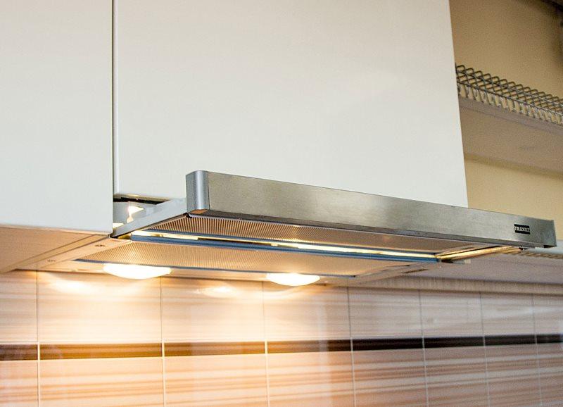 Выдвижная панель встроенной кухонной вытяжки
