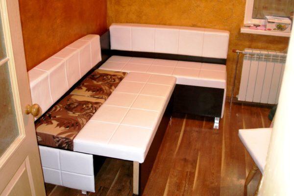 Раскладной диван-скамья для кухни