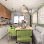 Дизайн кухни с мягкой мебелью