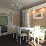 Классическая кухня с небольшим диванчиком