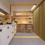 Дизайн интерьера узкой кухни требует особого подхода