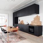 Кухонный стол коричневого цвета