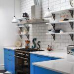 открытая вытяжка в интерьере кухни