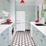 3D мозаика на кухонном полу