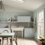 Интерьер кухни в ретро стиле