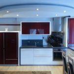 Гипсокартонная конструкция на потолке кухни