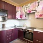 Акриловые фасады с фотопринтом на кухонном гврнитуре