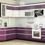 Угловой гарнитур фиолетового оттенка