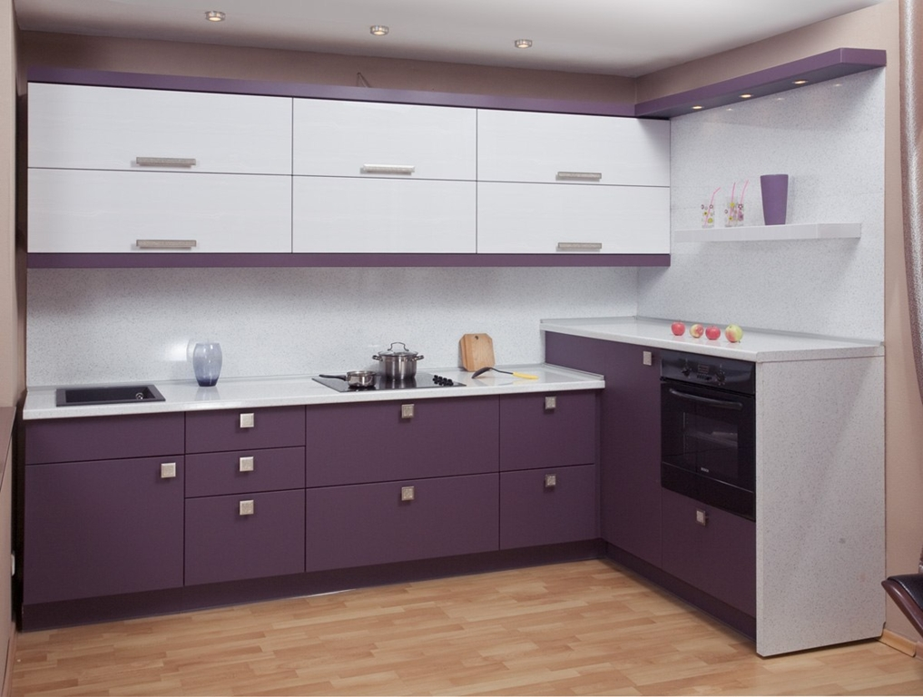 этого кухня из пленки мдф черничного цвета фото оформлением дизайна помощью