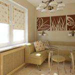 Дизайн кухни с модульными картинами