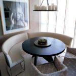 Круглый диван кухонного гарнитура