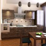 Дизайн современной кухни с прямым гарнитуром