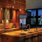 Освещение кухни в восточном стиле