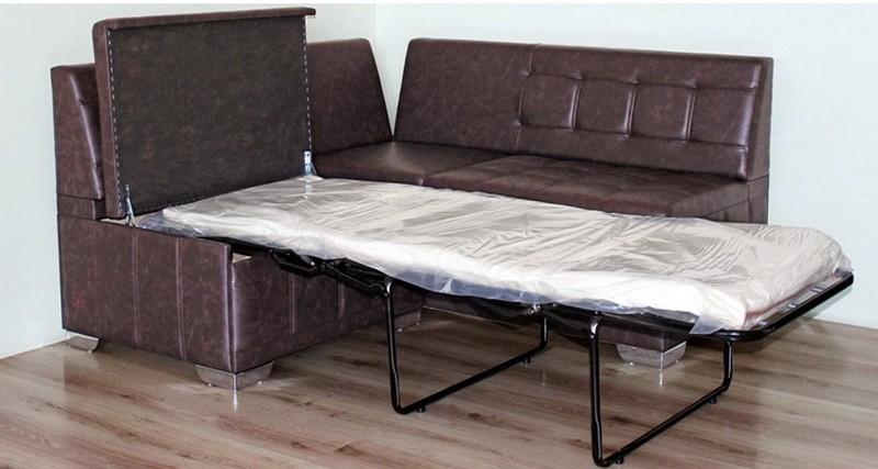 Кожаный диванчик системы французская раскладушка