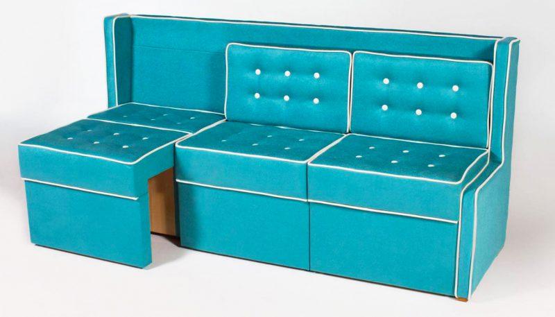 Узкий секционный диванчик для кухни со спальным местом