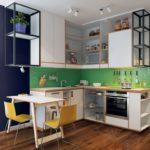 Использование зеленого цвета для оформления кухонного фартука — поможет освежить интерьер
