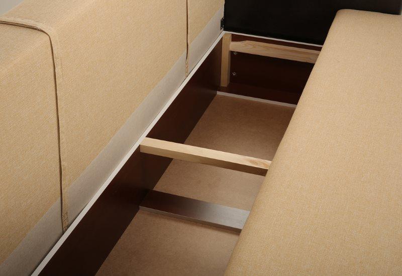Каркас недорого дивана прямого типа из ДСП
