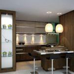 Дизайн рабочей зоны кухни в коричневых тонах