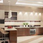Дизайн просторной кухни в современном стиле
