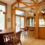 Деревянные конструкции в интерьере кухни