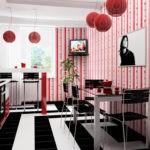 Красный для стен, гарнитура и декора - ярко и стильно