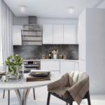 Угловая кухня в стиле современного модерна
