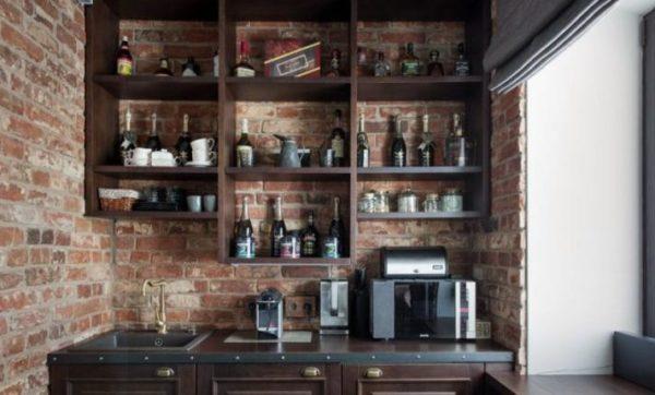 Мини кухня в стиле лофт
