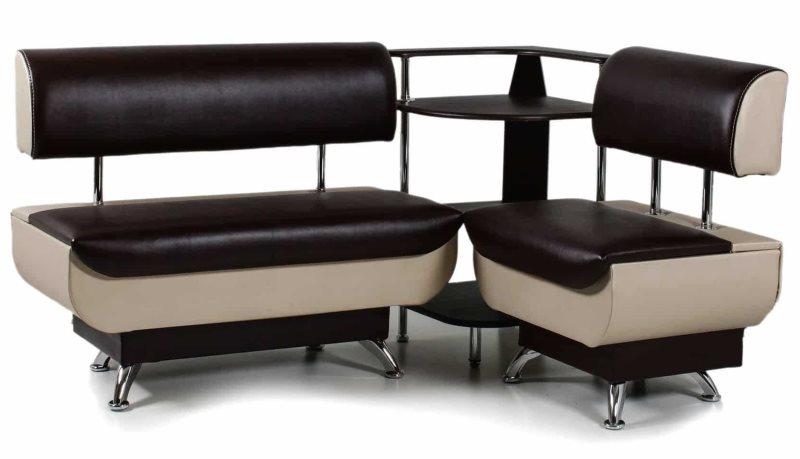 Кухонный диванчик модульного типа в современном стиле