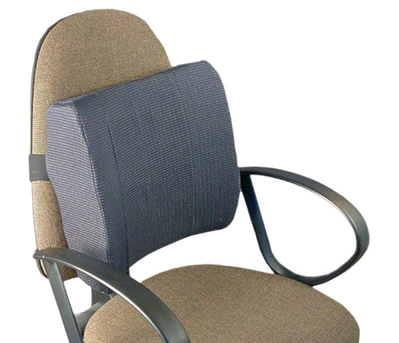 Закрепление ортопедической подушки на спинке стула