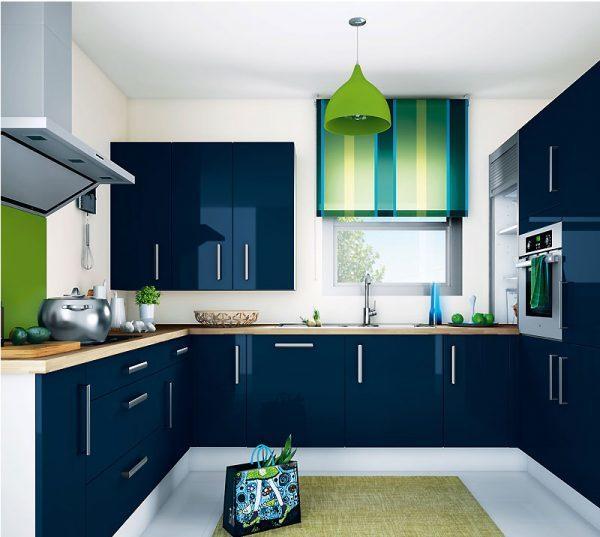 Сочетание синего с зеленым