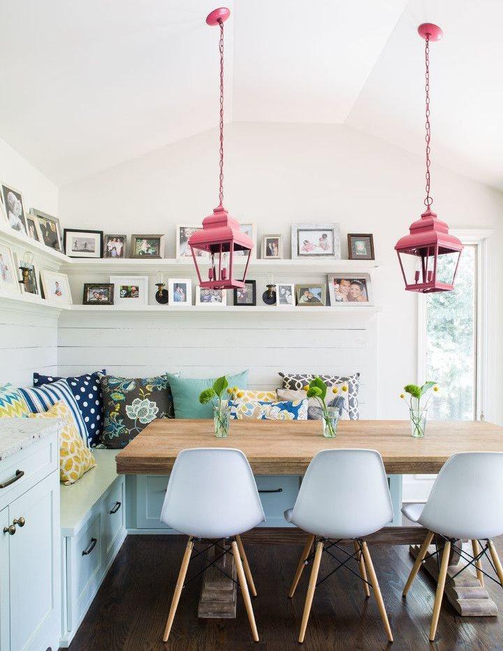 Розовые плафоны подвесных светильников