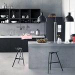 Дизайн кухни с бетонными стенами