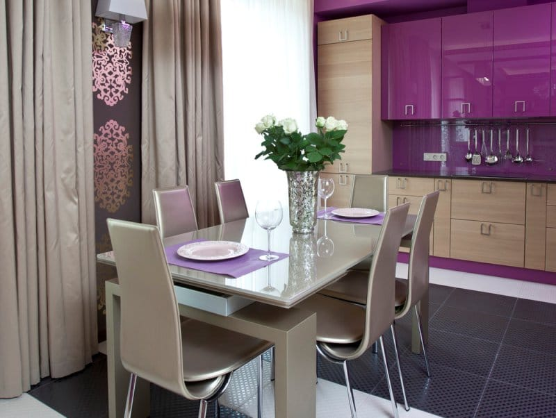 Дизайн серой кухни в стиле современного модерна