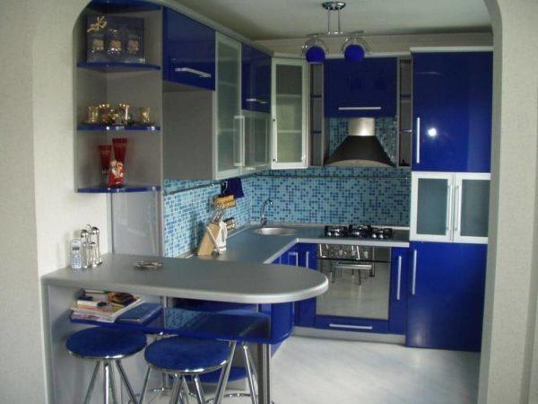 Сине-голубая мозаика